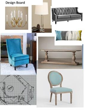 Design Board for Decorating a Room
