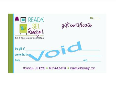 Decorating Gift Certificate