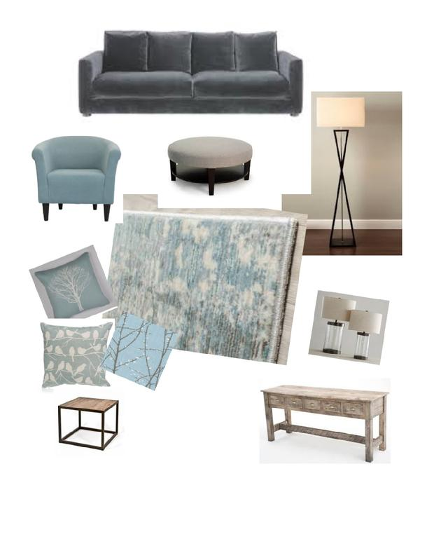 Decorating a living room mood board